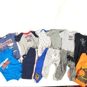 12 piece lot baby boy clothes Nike & Carters 6-9mo